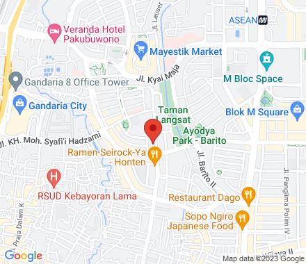 Jl. Ahmad Dahlan no 18A, Jakarta Selatan  , meetup1 Jakarta, ID - Map view