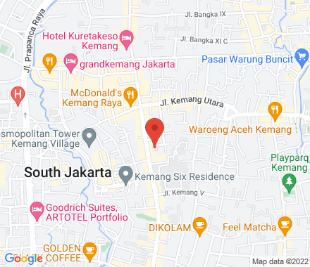 WIMO Building 3rd Floor Jalan Kemang I No. 7 Jakarta Selatan 12730  , meetup1 Jakarta, ID - Map view