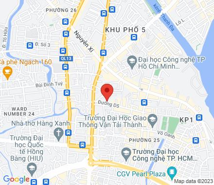No. 15, D5 street, Binh Thanh District  Ho Chi Minh City Vietnam - Map view