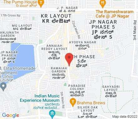 No. 20/1, 3rd Floor,  24th Main, Off 15th Cross, 6th Phase, JP Nagar 560078 Bangalore India - Map view