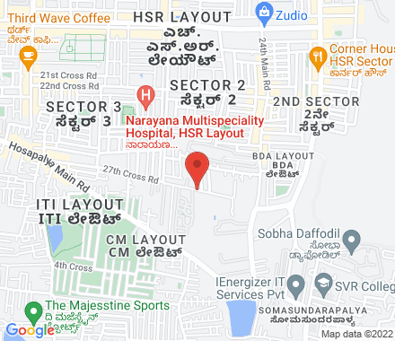 29/A 23rd cross 18th main HSR Layout sector 3 560102 Bangalore India - Map view