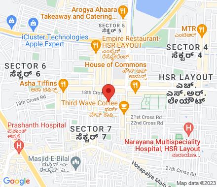 112,, 12/A, 19th Cross Rd, Sector 7, HSR Layout, Bengaluru, Karnataka 560102  ,  Bangalore, in - Map view