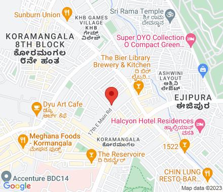 84/F, 17 D Main, Koramangala 6th block, Opposite Koramangala Club, Koramangala 560095 Bangalore India - Map view
