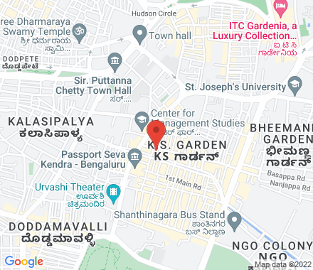 4th Floor, Rear Wing, Brahmananda Court  #37 Lal Bagh Road  Bangalore 560027 560027 Bangalore India - Map view