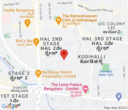 2143, 16 E Main, HAL 2nd Stage, Indiranagar, Bangalore 56 00 08  ,  Bangalore, in - Map view