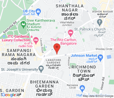 Chancery Pavilion Commercial Building, Residency Road 560 025 Bangalore India - Map view