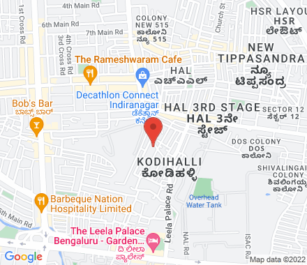 no. 2906/2907, HAL 2nd Stage, Kodihalli layout, Bengalore- 560008 560 008 Bangalore India - Map view