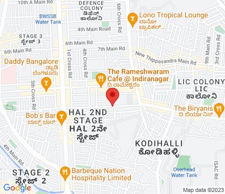 3366, Shivajoyti Complex, 13th Main, Indiranagar 560038 Bangalore India - Map view