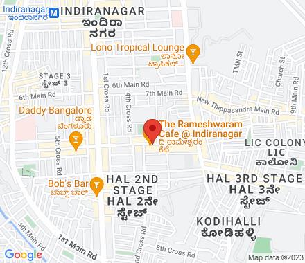 12th Main Road, Indiranagar 560038 Bangalore India - Map view