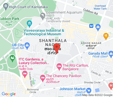 St Marks road  ,  Bangalore, in - Map view