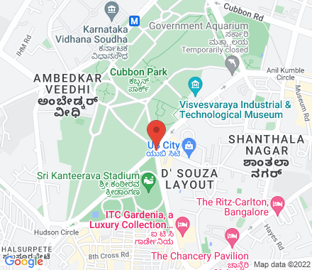 Cubbon Park Kasturba Road, Bengaluru, Karnataka- 560001  ,  Kasturba Road, in - Map view