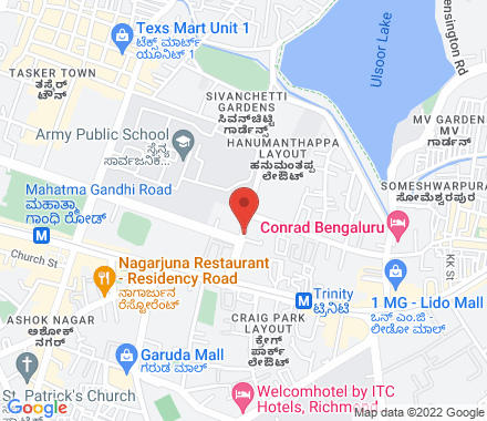 S510 , south block , Manipal centre , 47 dickenson Road , 560042 Bangalore India - Map view