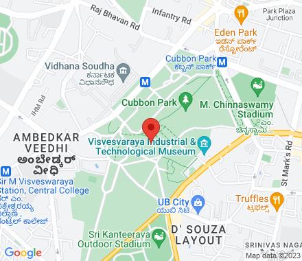 Cubbon Park  ,  Bengaluru, in - Map view