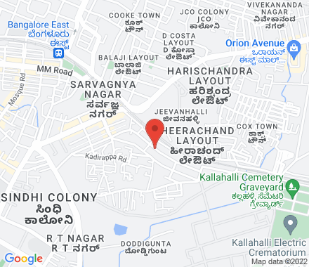 93/4, Charles Campbell Road, Cox Town  ,  Bangalore, in - Map view