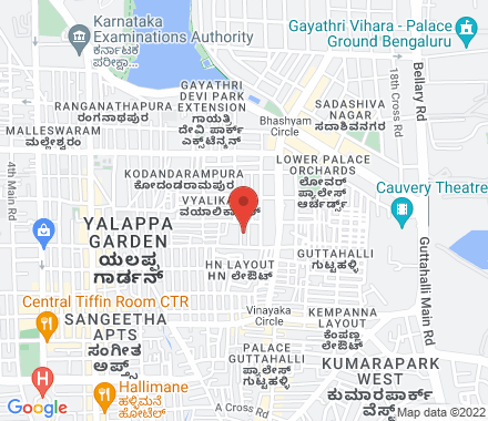 Vyalikaval 560003 Bangalore India - Map view