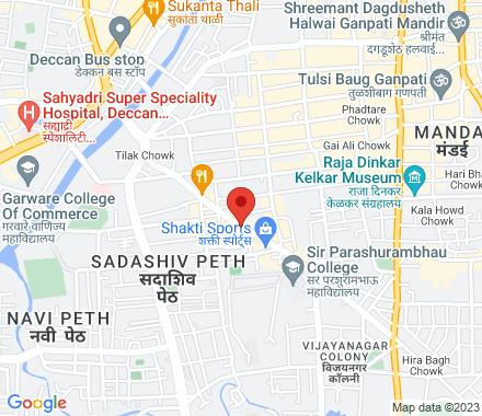 1692, Sadashiv peth, Bhagyadarshan, Tilak road, Near Grahak peth 411 030  India - Map view