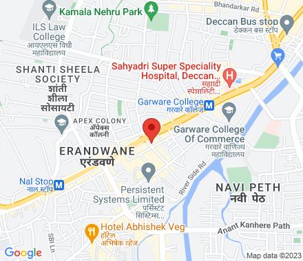 2nd Floor, Siddharth Hall, Near Ranka Jewellers,  Behind HP Petrol Pump, Karve Rd 411004 Pune India - Map view