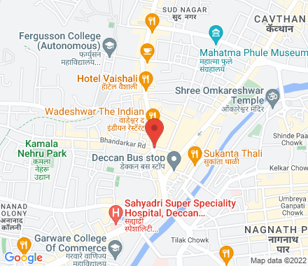 Deccan  ,  Pune, in - Map view
