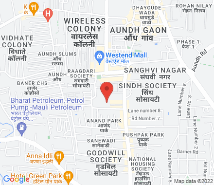 Aundh, Pune  ,  Pune, in - Map view