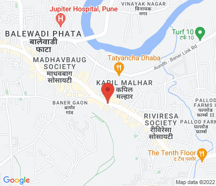 Upper Ground Floor, Speciality Business Center Atrium, Off Baner Road, Balewadi, Pune  ,  Pune, in - Map view
