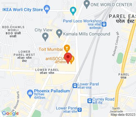 Todi Mill Social, CS No. 242, Near Viva Center, Lower Parel West, Mumbai 400013 400013  India - Map view