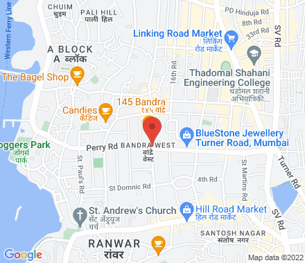 5AA, Pali Hill Road, Next to Candies, Bandra West 400050 Mumbai India - Map view