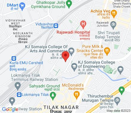 Near Somaiya Running Track, Vidyanagar, Vidya Vihar East, Vidyavihar, Mumbai, Maharashtra 400077  ,  Mumbai, in - Map view