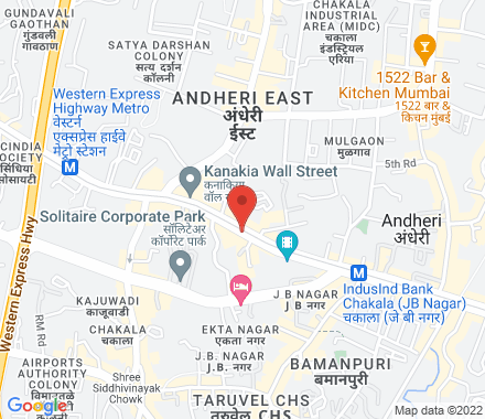 Courtyard by Marriott, Andheri Kurla Road, Near Mumbai International Airport, Andheri East, Mumba  Mumbai India - Map view