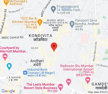 B-wing 7th Floor, 32 Corporate Avenue, Near paper box, off Mahakali Caves Road, Andheri-East, Mumbai.  ,  Mumbai, in - Map view