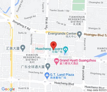 510623 Guangzhou China - Map view