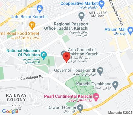 Old Hindu Gymkhana Building, M. R. Kiyani Road Karachi Pakistan - Map view
