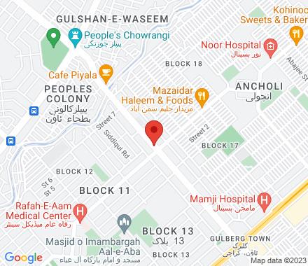B-518, Block 13, Gulberg, F.B. Area  Karachi Pakistan - Map view