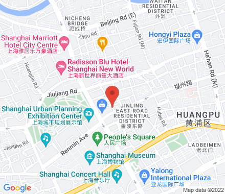4F 666 Fuzhou Rd People's Square Metro Station, Line 1/2/8 Exit 14 , meetup1 Shanghai, cn - Map view
