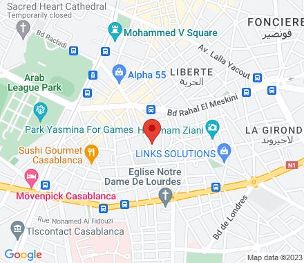 113, avenue mers sultan, 5 eme étage  Casablanca Morocco - Map view