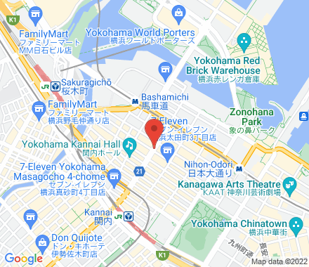 Yokohama Japan - Map view