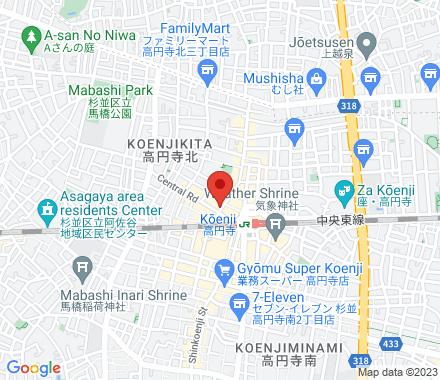 高円寺北3-21-20 MEIHOビル2F 166-0002 Suginami-ku Japan - Map view