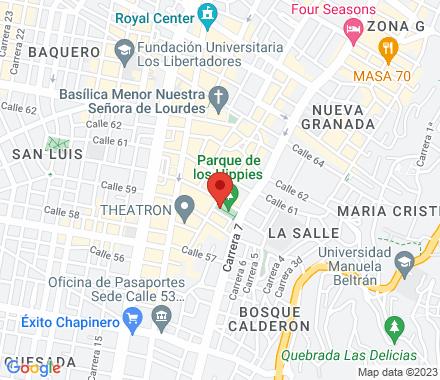 Calle 60 # 7  , meetup1 Bogotá, CO - Map view