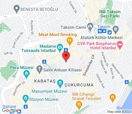 İstiklal Cad. Ayhan Işık Sok. No:32/2 Beyoğlu 34433  Turkey - Map view