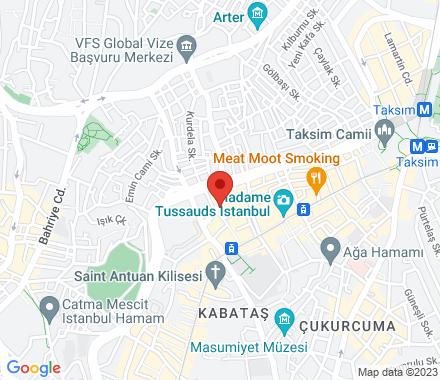 Kameriye Sokak  No: 4  Balıkpazarı Beyoğlu 34435  Turkey - Map view