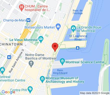 Rue de la Commune Ouest H2Y 2E2 QC Canada - Map view
