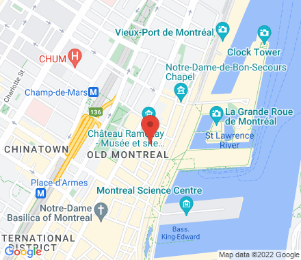 Jacques Cartier Pl  Montreal Canada - Map view