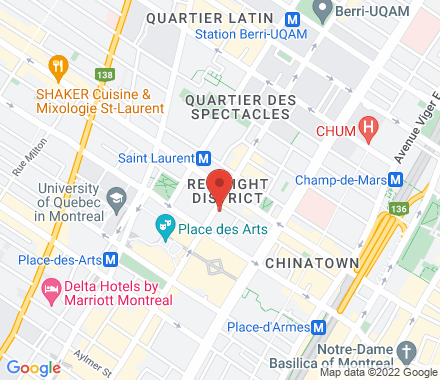 50 Rue Sainte-Catherine Ouest H2X 3V4 Montreal Canada - Map view