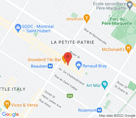 6360 St Hubert H2S2M2 Montreal Canada - Map view