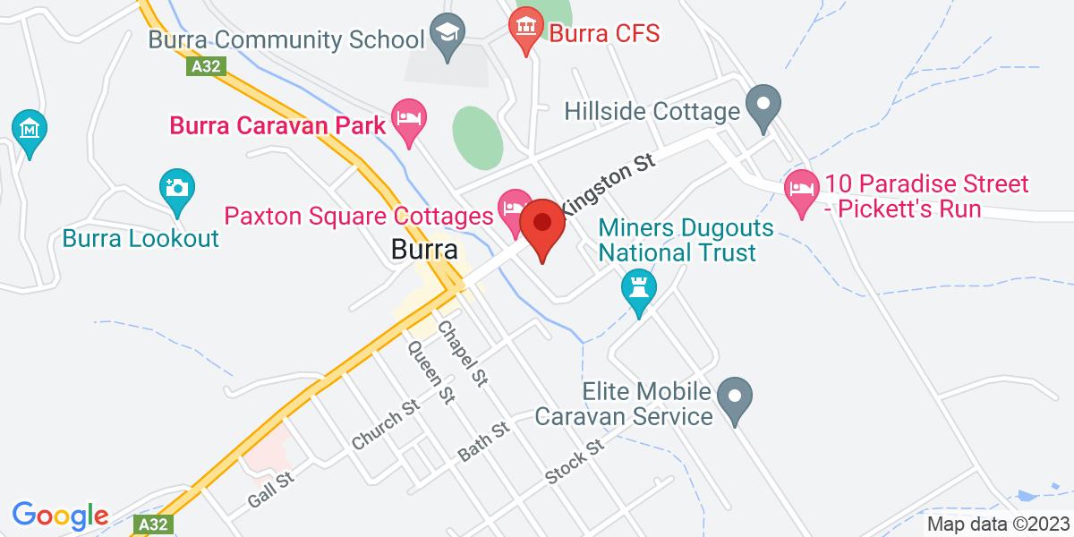 <div class='adr' >                             <div class='street-address'>1 Bridge Street</div>                             <div class='extended-address'></div>                             <div>                                 <span class='locality'>Burra</span>,                                 <span class='region'>South Australia</span>                                 <span class='postal-code'>5417</span>                             </div>                                                      </div>