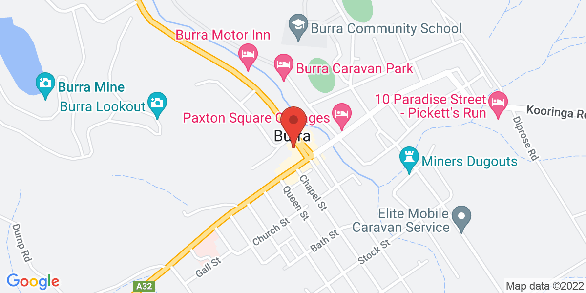 <div class='vcard'><div class='fn'>That Country Store Burra</div>                         <div class='adr' >                             <div class='street-address'>10 Market Square</div>                             <div class='extended-address'></div>                             <div>                                 <span class='locality'>Burra</span>,                                 <span class='region'>South Australia</span>                                 <span class='postal-code'>5417</span>                             </div>                                                      </div></div>