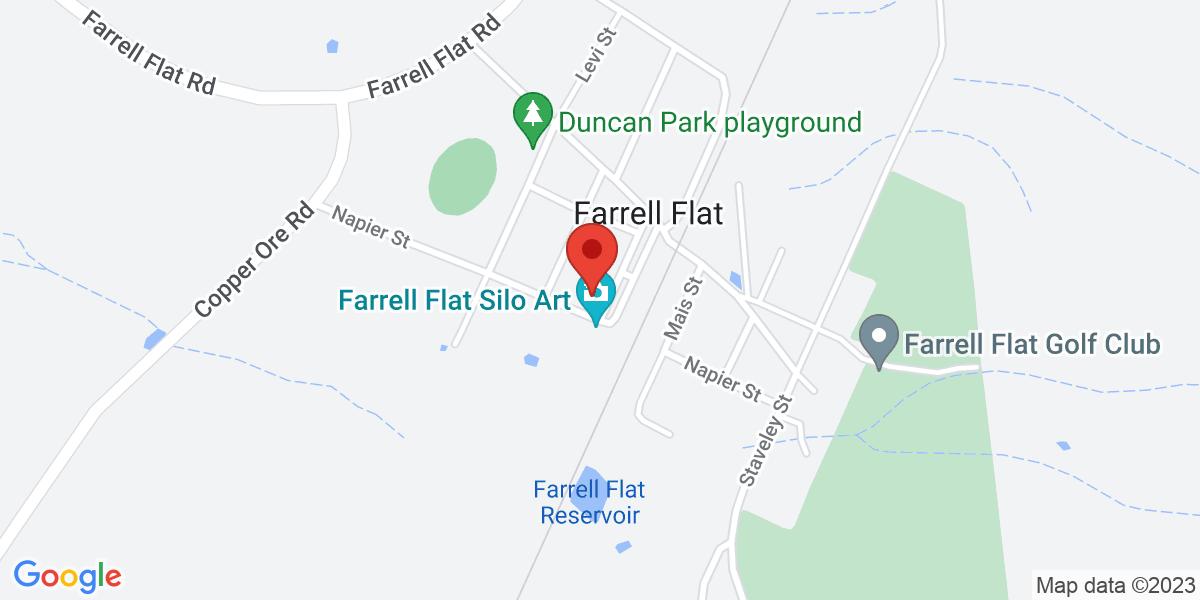 <div class='vcard'><div class='fn'>Farrell Flat Hotel</div>                         <div class='adr' >                             <div class='street-address'>12 Patterson Terrace</div>                             <div class='extended-address'></div>                             <div>                                 <span class='locality'>Farrell Flat</span>,                                 <span class='region'>South Australia</span>                                 <span class='postal-code'>5416</span>                             </div>                                                      </div></div>