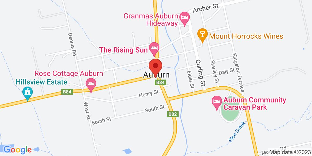 <div class='adr' >                             <div class='street-address'>13 Main North Road</div>                             <div class='extended-address'></div>                             <div>                                 <span class='locality'>Auburn</span>,                                 <span class='region'>South Australia</span>                                 <span class='postal-code'>5451</span>                             </div>                                                      </div>