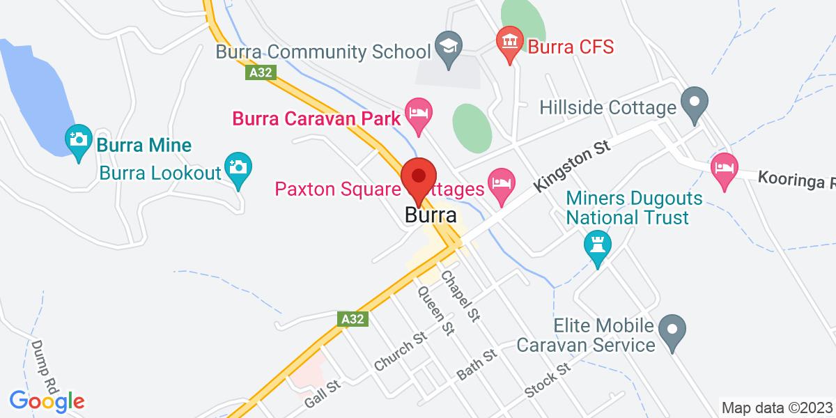 <div class='adr' >                             <div class='street-address'>2 Market Street</div>                             <div class='extended-address'>Visitors Centre</div>                             <div>                                 <span class='locality'>Burra</span>,                                 <span class='region'>South Australia</span>                                 <span class='postal-code'>5417</span>                             </div>                                                      </div>