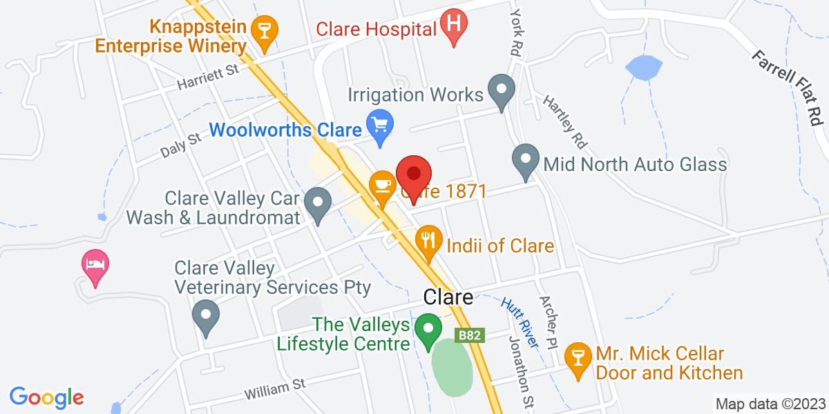 <div class='vcard'><div class='fn'>JPG Accountancy & Advisory</div>                         <div class='adr' >                             <div class='street-address'>2 Mill Street</div>                             <div class='extended-address'></div>                             <div>                                 <span class='locality'>Clare</span>,                                 <span class='region'>South Australia</span>                                 <span class='postal-code'>5453</span>                             </div>                                                      </div></div>