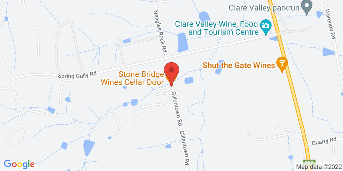 <div class='vcard'><div class='fn'>Stone Bridge Wines</div>                         <div class='adr' >                             <div class='street-address'>20 Gillentown Road</div>                             <div class='extended-address'></div>                             <div>                                 <span class='locality'>Sevenhill</span>,                                 <span class='region'></span>                                 <span class='postal-code'>5453</span>                             </div>                                                      </div></div>